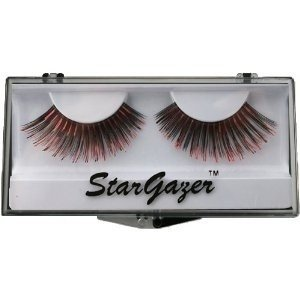 Stargazer Reusable False Eyelashes Black & Red Foil 5