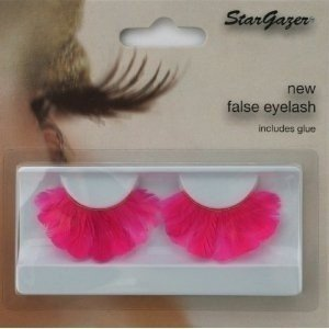 Stargazer Reusable False Eyelashes Bright Pink Thick Feathers 46