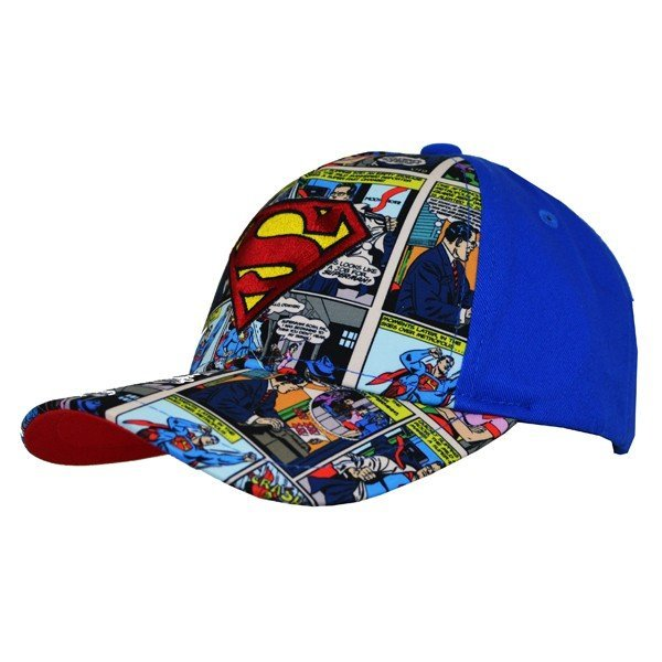 Superman Comic Cap Blue - Junior
