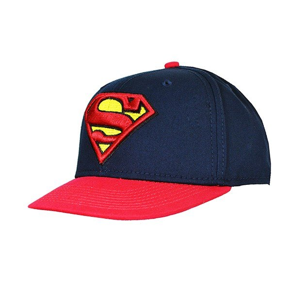 Superman Contrast Snap Back Cap Navy - Adult