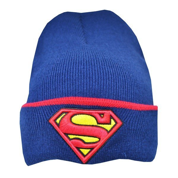 Superman Cuff Knitted Hat - Junior