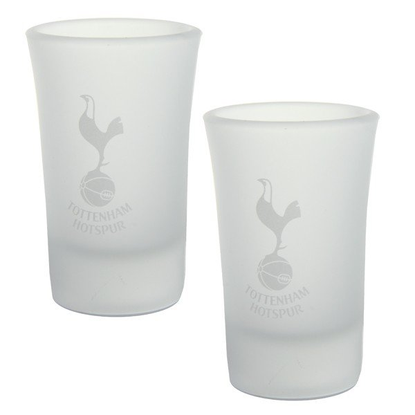 Tottenham 2Pk Frosted Shot Glass