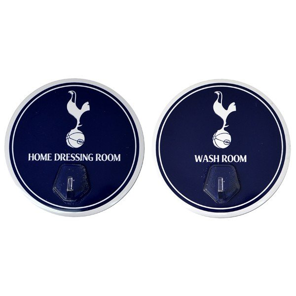 Tottenham 2PK Sign With Hanging Hooks