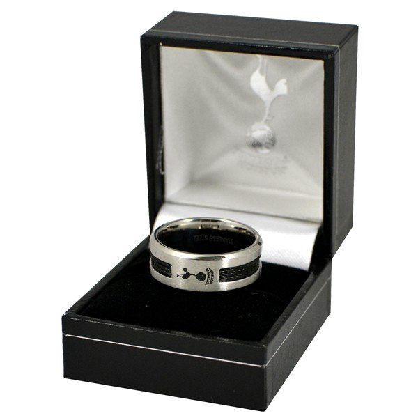 Tottenham Black Inlay Ring - Small