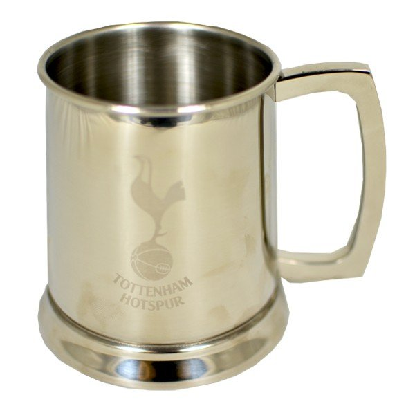 Tottenham Glass Base Stainless Steel Tankard