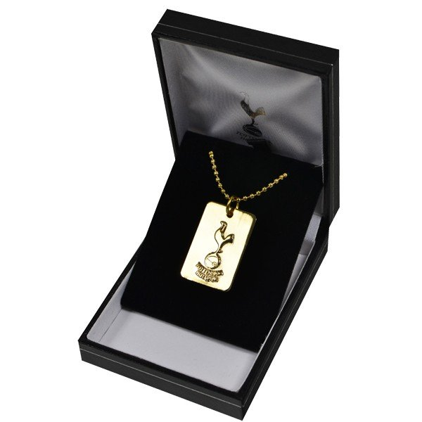 Tottenham Gold Plated Dog Tag and Chain