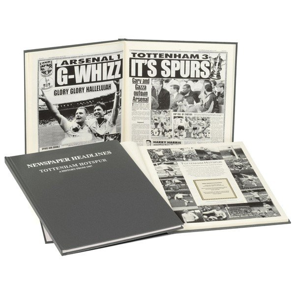 Tottenham Grey Cover Football Book