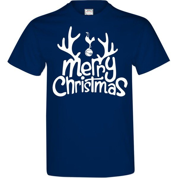 Tottenham Mens Merry Christmas T-Shirt - L