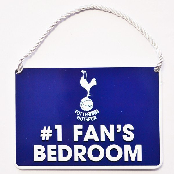 Tottenham No 1 Fan Bedroom Sign