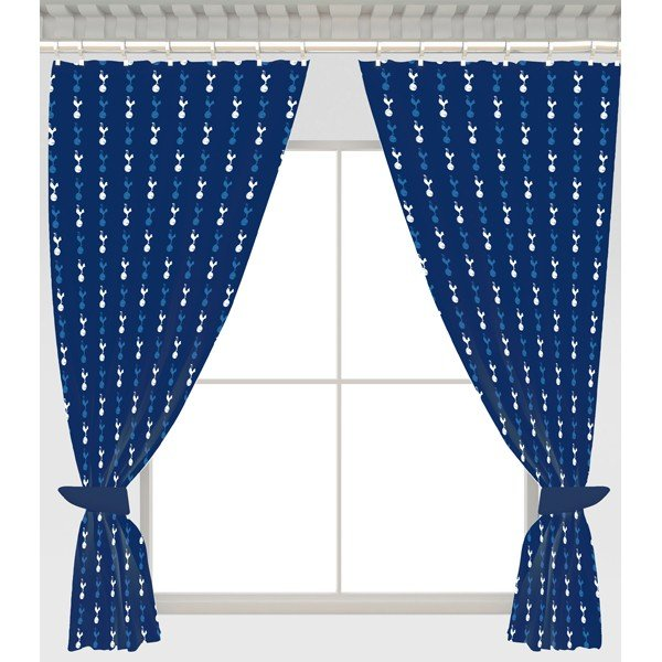 Tottenham Repeat Crest Curtains - 54 Inch