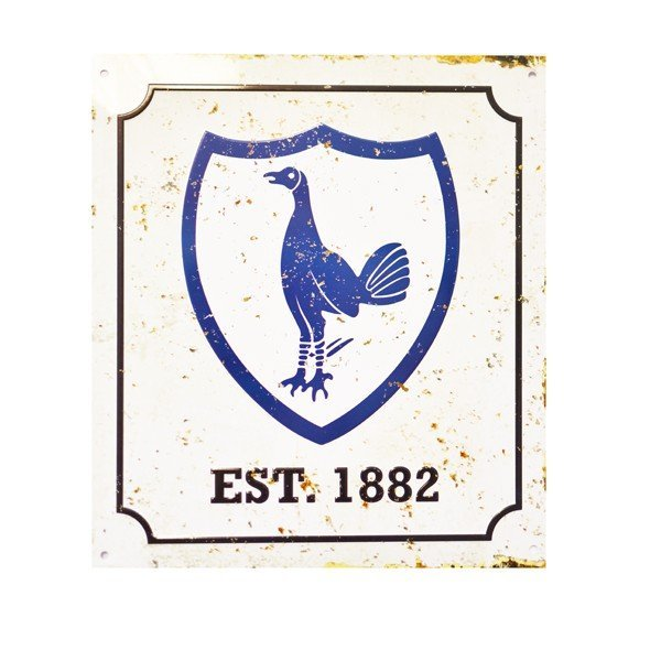 Tottenham Retro Logo Sign