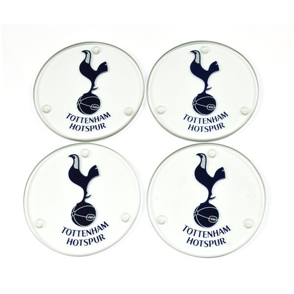 Tottenham Round Glass Coasters - 4PK