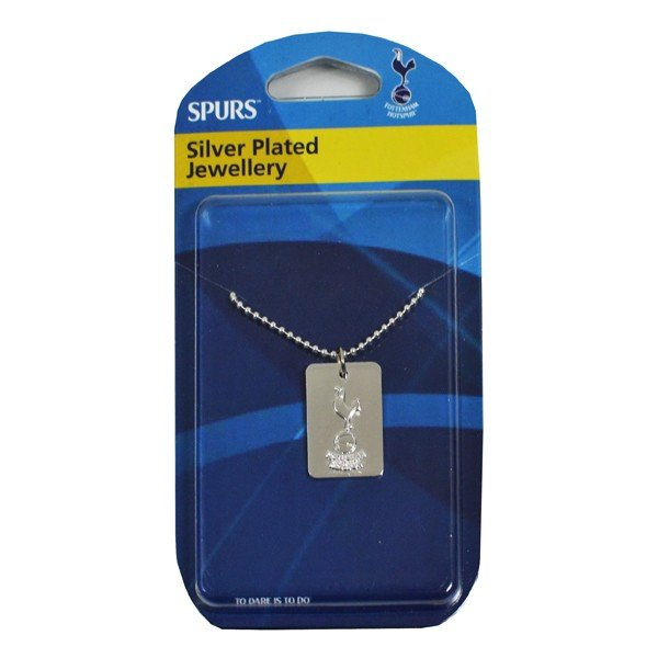 Tottenham Silver Plated Dog Tag and Chain
