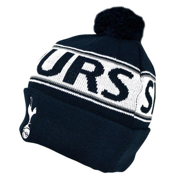 Tottenham Text Cuff Knitted Hat