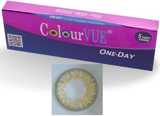 5 Pairs Of Daily Wear TruBlends Brown Coloured Contact Lenses