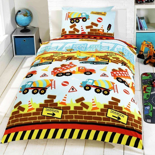 Under Construction Single Duvet Set