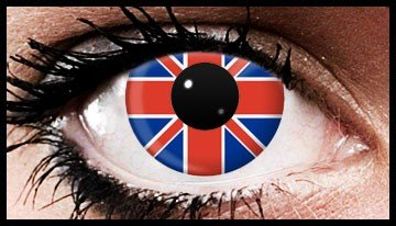 Union Jack Coloured Contact Lenses (90 Day)