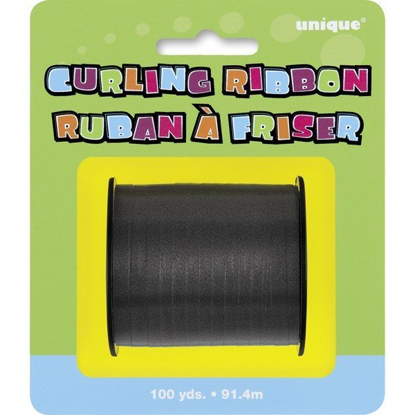 Unique Party 100 Yards Ribbon Roll - Black