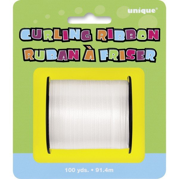Unique Party 100 Yards Ribbon Roll - White