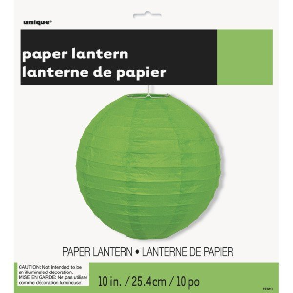 Unique Party 10 Inch Paper Lanterns - Lime Green