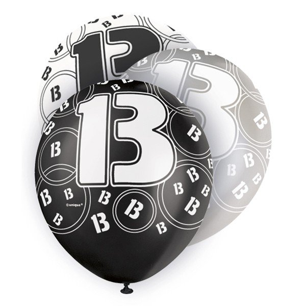 Unique Party 12 Inch Latex Balloon - 13 Black