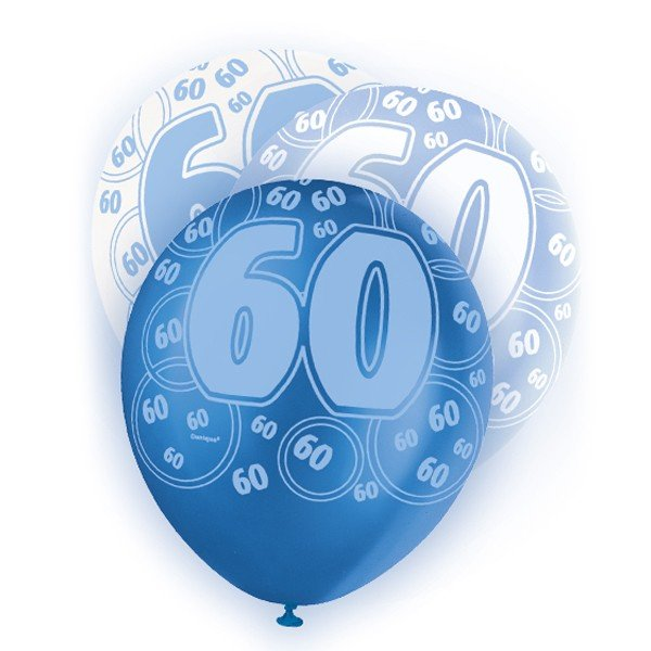 Unique Party 12 Inch Latex Balloon - 60 Blue
