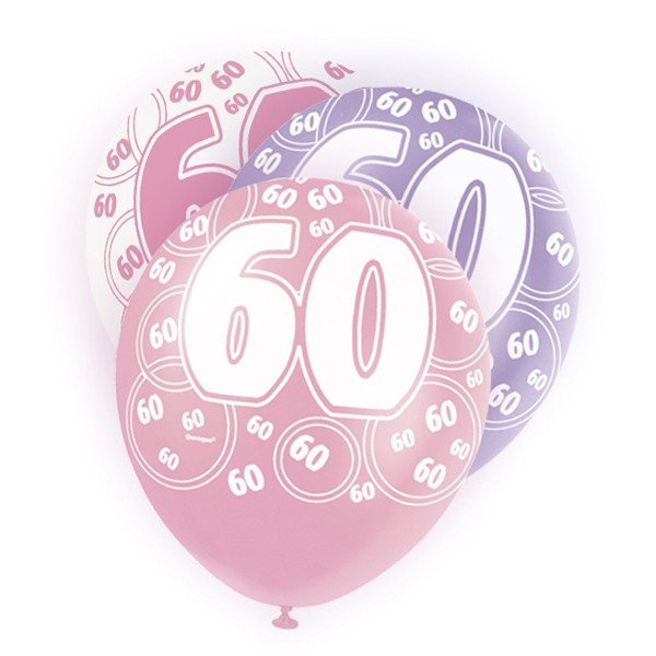 Unique Party 12 Inch Latex Balloon - 60 Pink