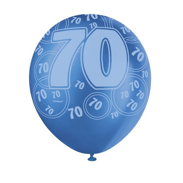 Unique Party 12 Inch Latex Balloon - 70 Blue