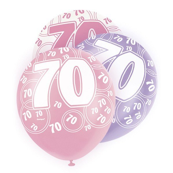 Unique Party 12 Inch Latex Balloon - 70 Pink