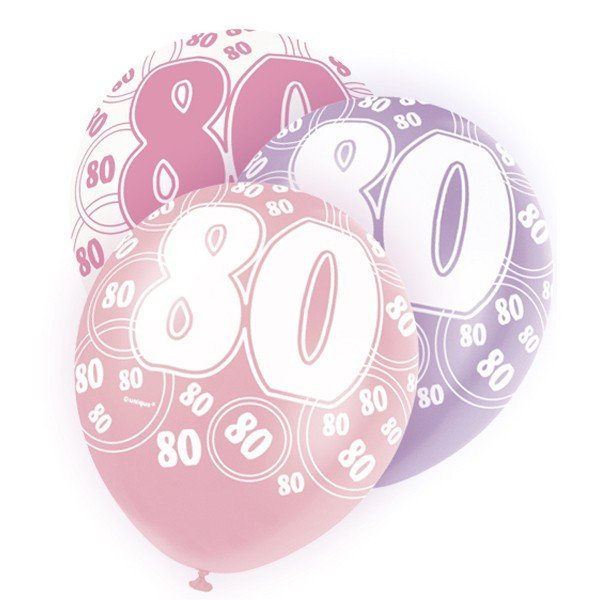 Unique Party 12 Inch Latex Balloon - 80 Pink