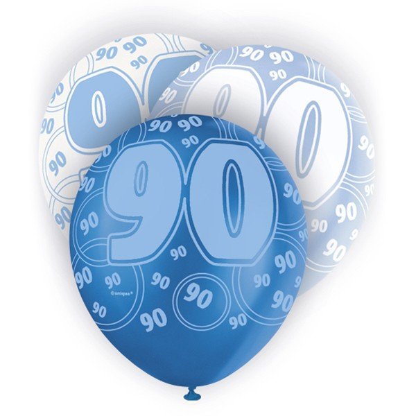 Unique Party 12 Inch Latex Balloon - 90 Blue