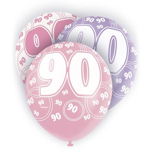 Unique Party 12 Inch Latex Balloon - 90 Pink