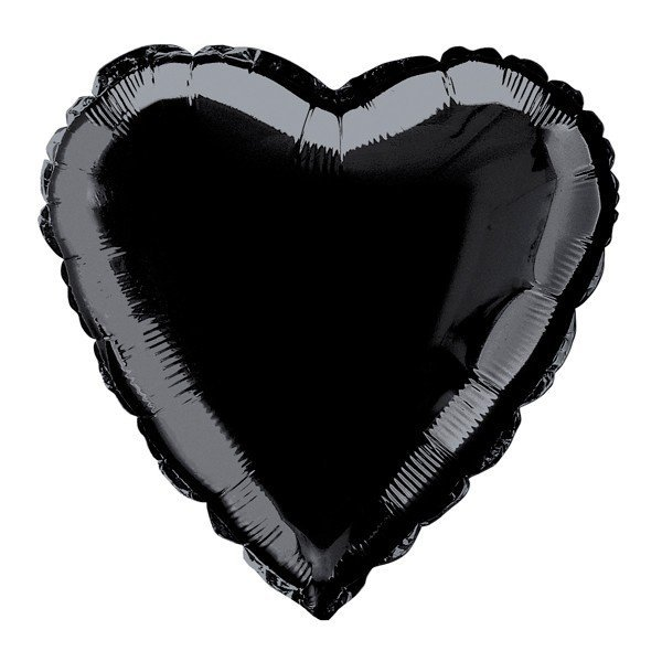 Unique Party 18 Inch Heart Foil Balloon - Black