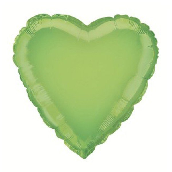 Unique Party 18 Inch Heart Foil Balloon - Lime Green