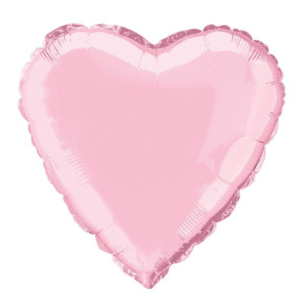 Unique Party 18 Inch Heart Foil Balloon - Pastel Pink