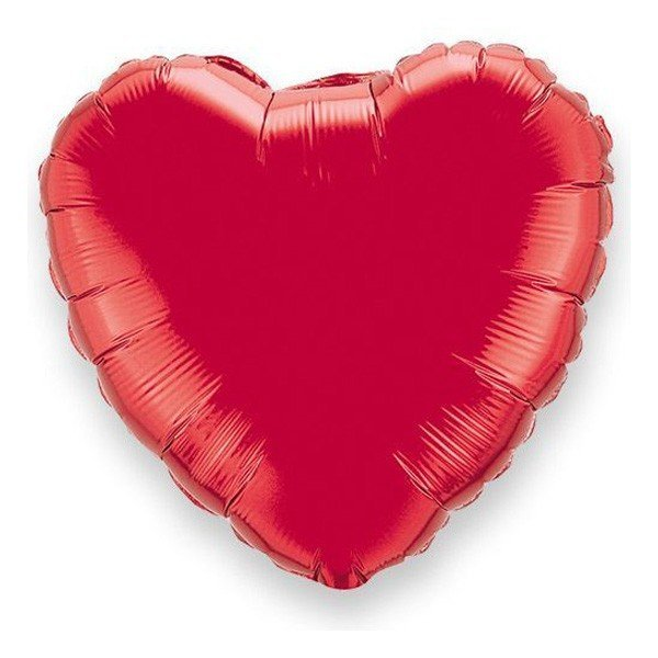 Unique Party 18 Inch Heart Foil Balloon - Red