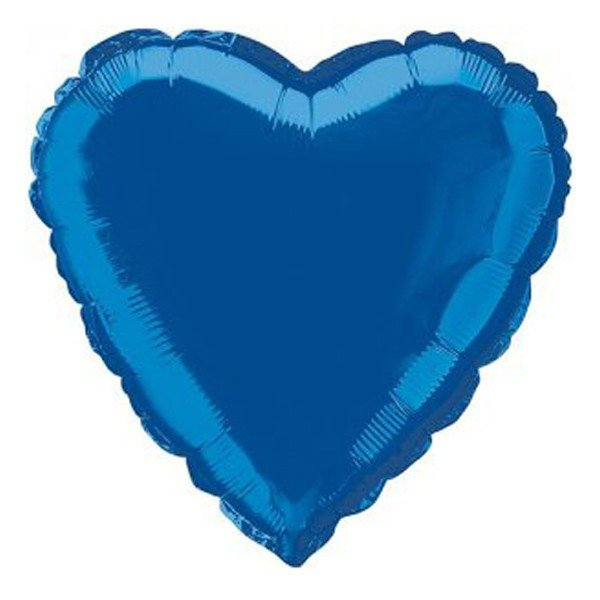 Unique Party 18 Inch Heart Foil Balloon - Royal Blue