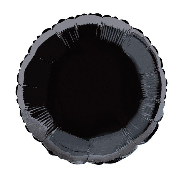 Unique Party 18 Inch Round Foil Balloon - Black