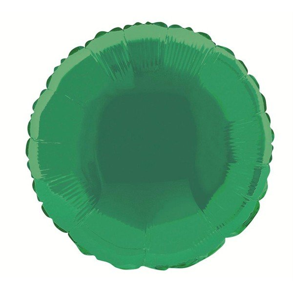 Unique Party 18 Inch Round Foil Balloon - Green