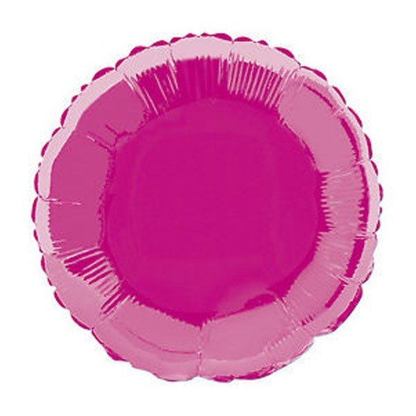 Unique Party 18 Inch Round Foil Balloon - Hot Pink
