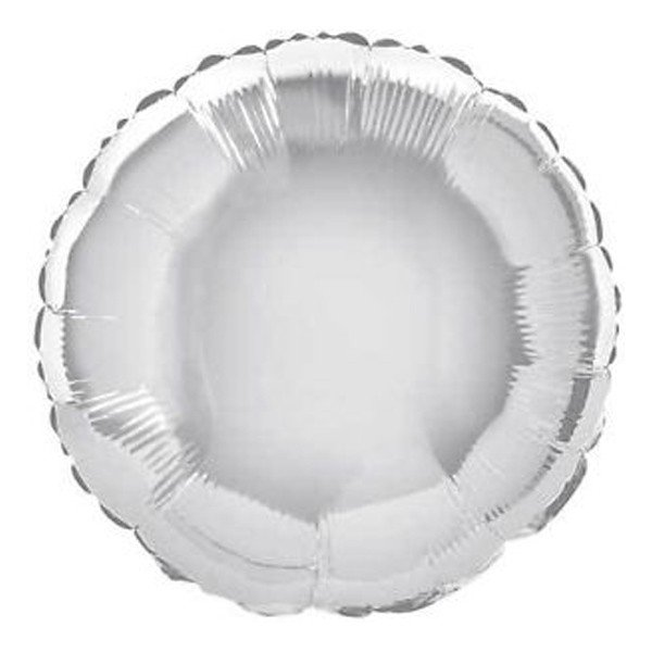 Unique Party 18 Inch Round Foil Balloon - Silver