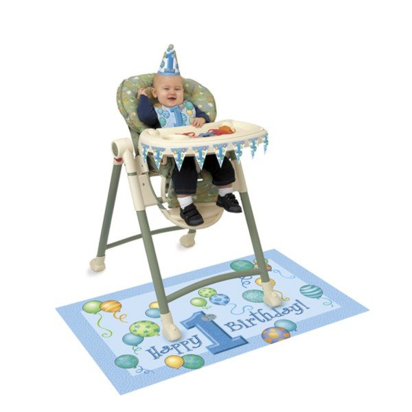 Unique Party 1st Birthday High Chair Kit - Blue