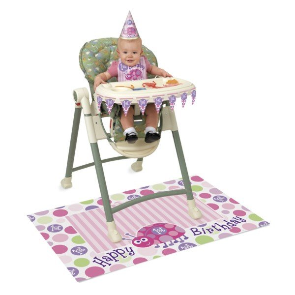 Unique Party 1st Birthday High Chair Kit - Ladybug