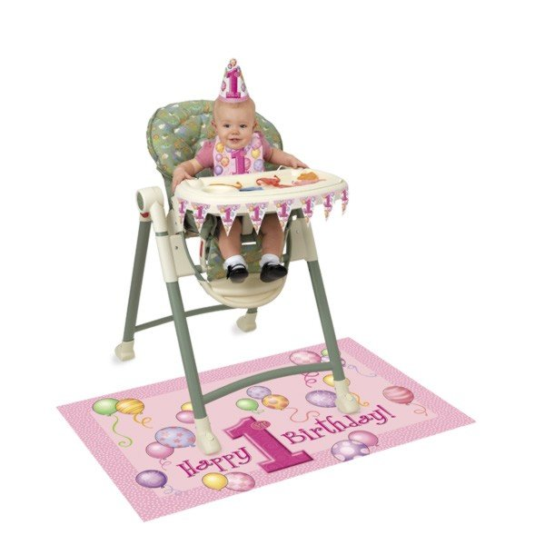 Unique Party 1st Birthday High Chair Kit - Pink