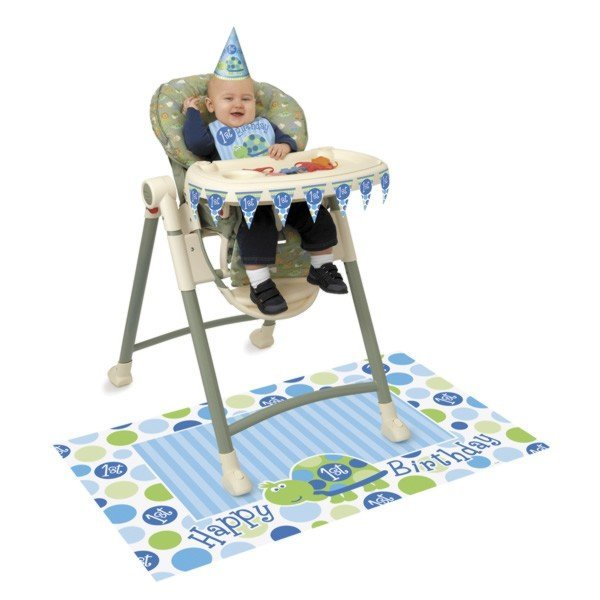 Unique Party 1st Birthday High Chair Kit - Turtle