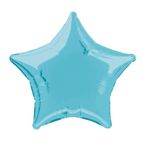Unique Party 20 Inch Star Foil Balloon - Baby Blue