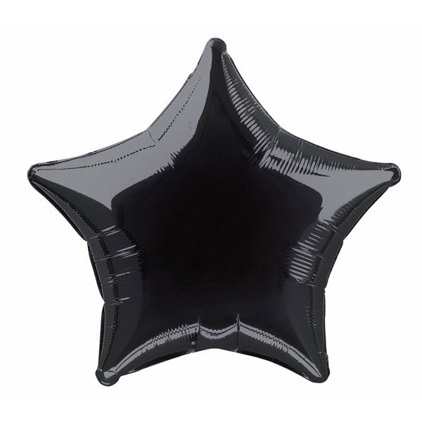 Unique Party 20 Inch Star Foil Balloon - Black
