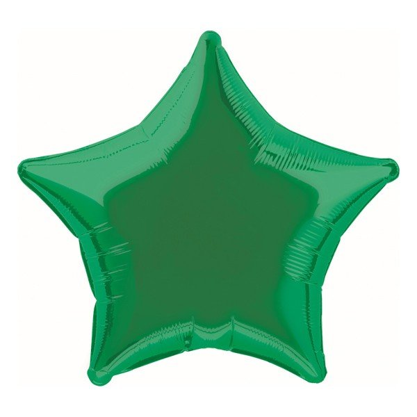 Unique Party 20 Inch Star Foil Balloon - Green