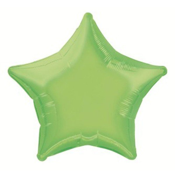 Unique Party 20 Inch Star Foil Balloon - Lime Green