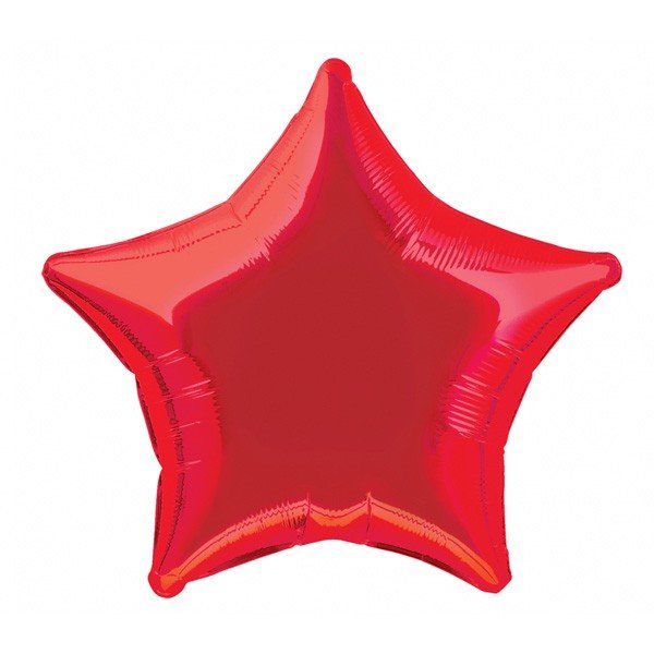 Unique Party 20 Inch Star Foil Balloon - Red